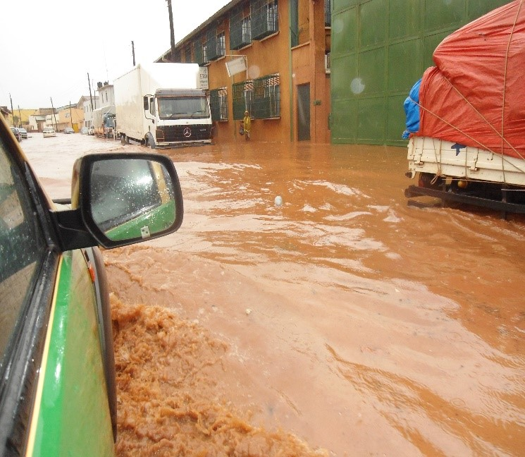 Flooding in Industrial Area